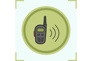 Walkie talkie color icon
