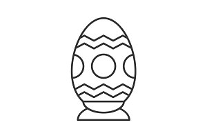 Easter egg linear icon