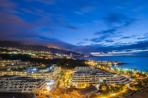 night view of Tenerife
