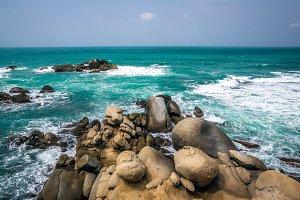 Rocks in the Blue Ocean