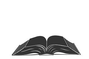 open book, icon, vector