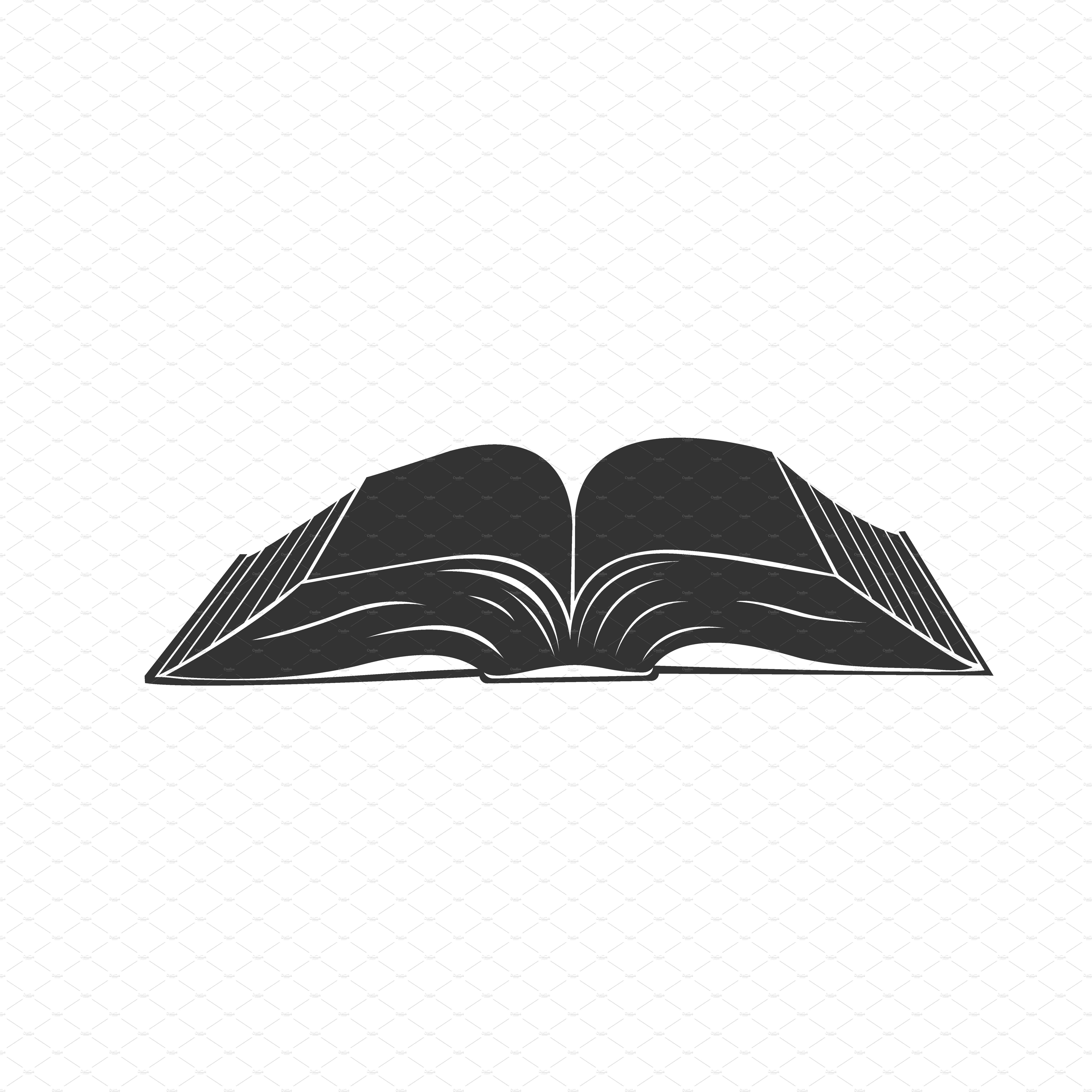 Creative Book Design Vector : Open book icon vector illustrations creative market