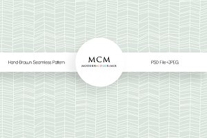Hand Drawn Seamless Pattern PSD+JPEG