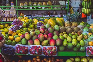 Colorful Fruit Stand