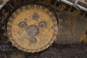 Bulldozer Sprocket Closeup