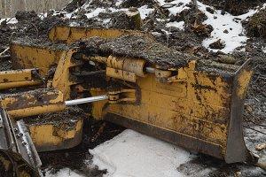 Closeup of Bulldozer Blade
