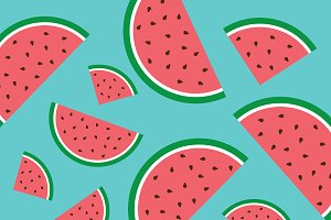 Background kids. Watermelon