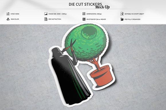 Download Die Cut Stickers Mock-Up
