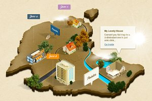 3D Isometric Map (Photoshop Action)