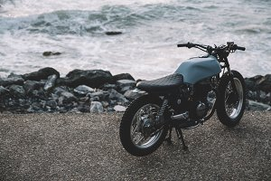 Motorcycle at the beach