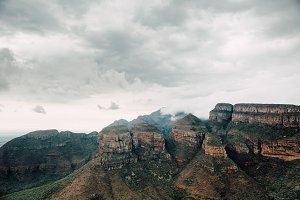 Overcast Rocky Cliffs