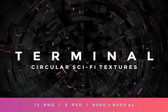 TERMINAL Circular Sci-Fi Textures