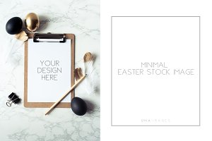 Minimal Easter stock image