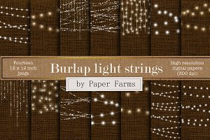 Burlap light strings