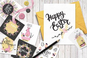 Spring/Easter hand drawn set