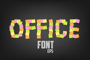 Office Sticky Font