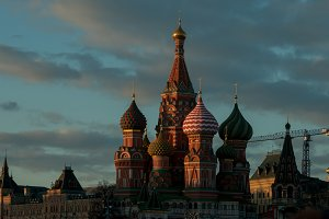 Moscow Vasily Blazhenniy's cathedral