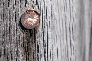 Rusty Nail and Weathered Barn Wood