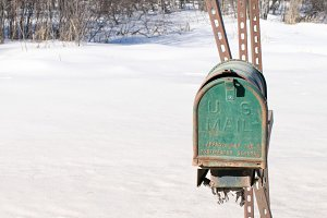Neglected Mailbox in Winter