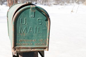 Front View of Abandoned Mailbox