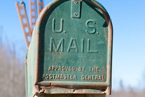 Closeup View of Rural Mailbox