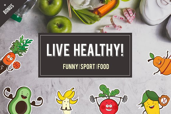 Cute Sport Fruits And Veggies