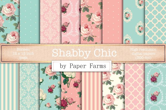 Shabby Chic Digital Paper