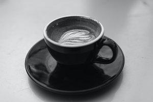 Black & White Latte in Mug