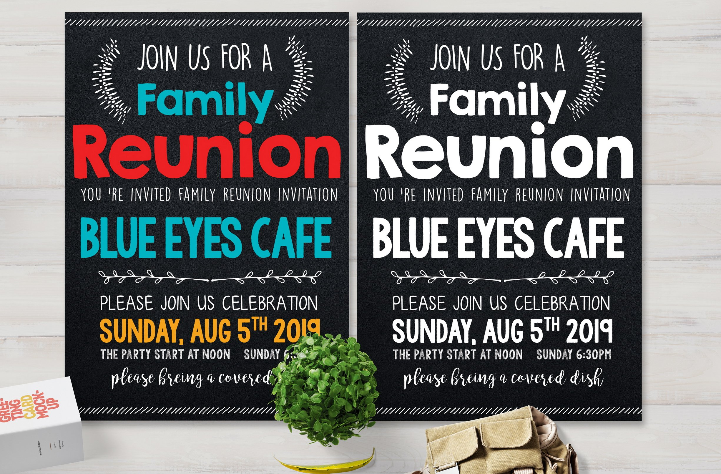 Family Reunion Party Flyer ~ Card Templates ~ Creative Market