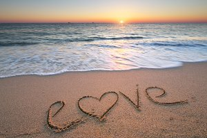 Love on the sea sand
