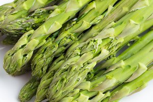 asparagus in plate close-up