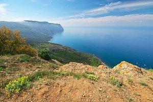 Mountain sea landscape