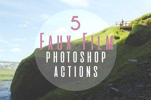 5 Faux Film Photoshop Actions