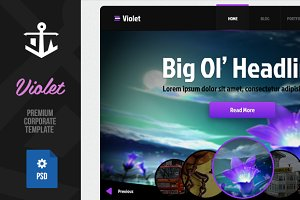 Violet | Multipurpose PSD Template