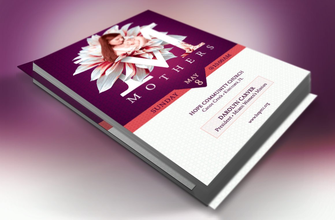 mothers day church flyer template flyer templates on creative market