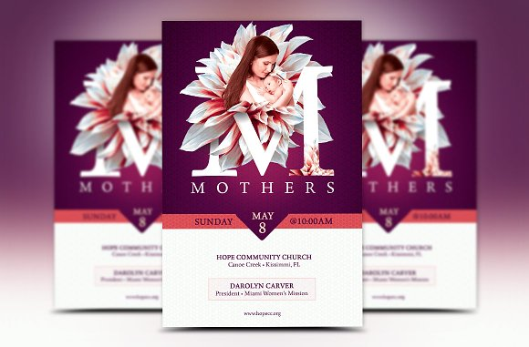 Mothers Day Church Flyer Template Flyer Templates Creative Market