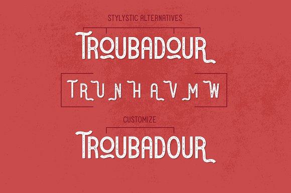 Troubadour | A Stylish Sans Serif
