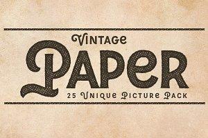 Vintage Paper Photo Pack