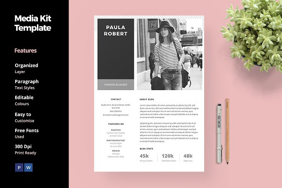 press packet template - 20 media kit templates to pitch your blog to brands and