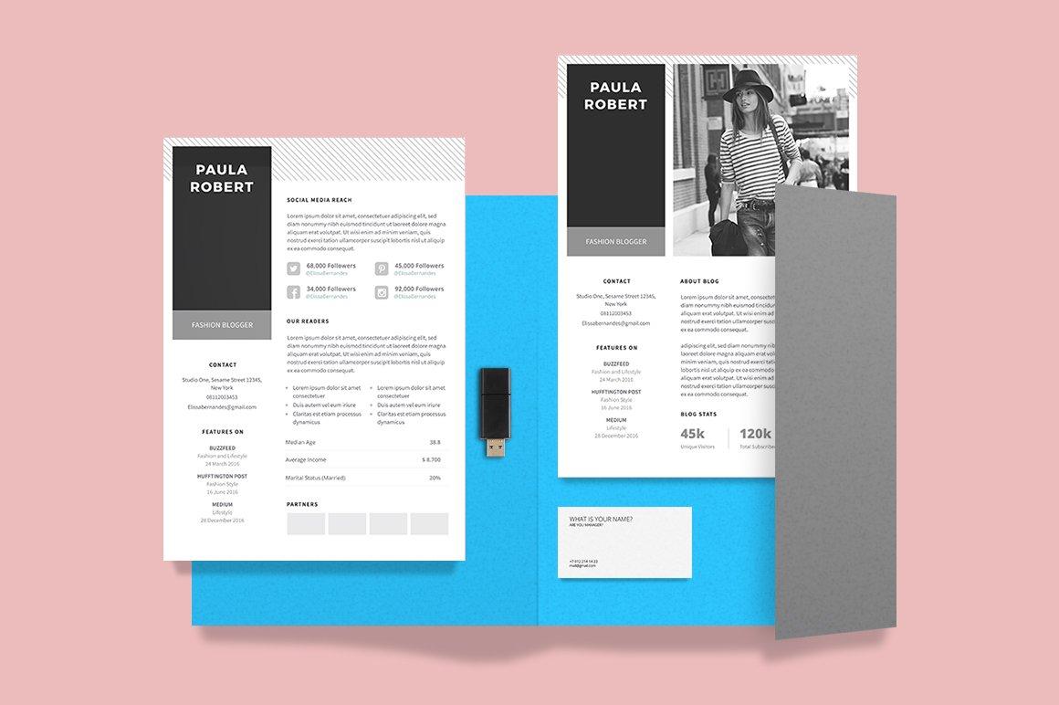 Media Kit Template for Blogger