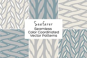 Seafarer Seamless Vector Patterns