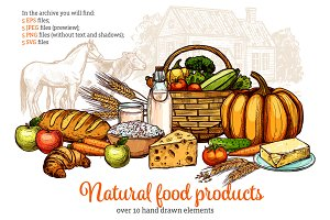 Natural Food Products Set