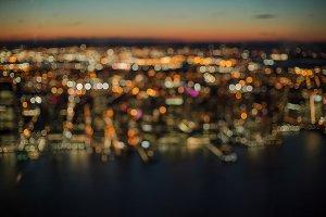 Blurred Aerial Manhattan view