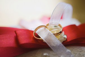 Bow tie groom and wedding rings - accessories