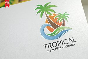 Tropical / Beach - Logo Template