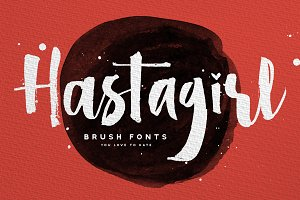 Hastagirl Chic brush watercolor font