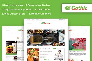 Gothic-Recipe & Food – HTML Template