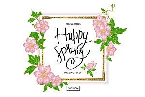 Spring sale banner set