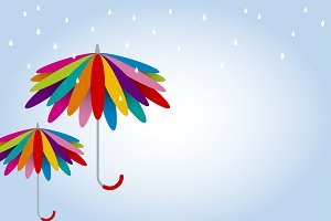 Vector colorful umbrella design