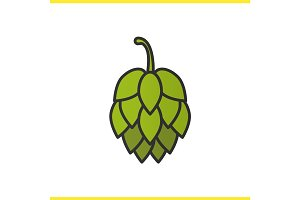 Hop cones color icon
